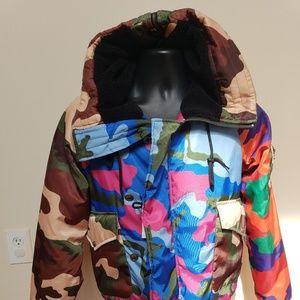 Moschino camouflage bomber jacket